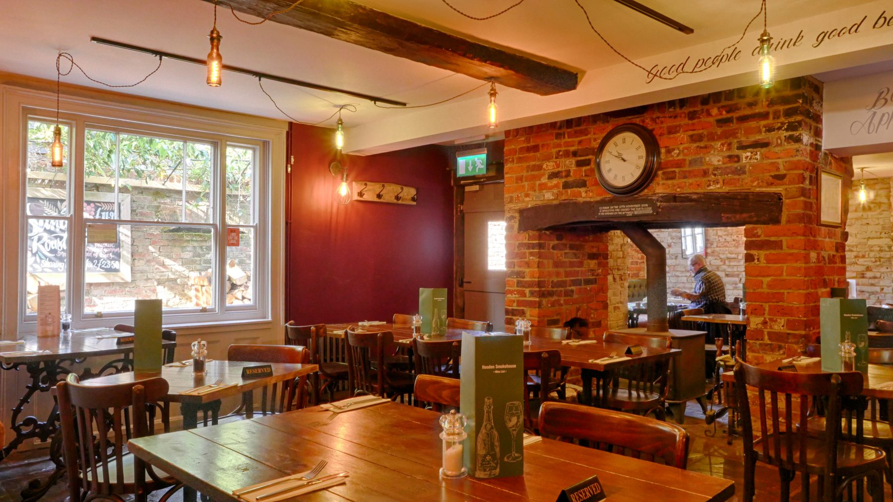 The Hooden is a traditional English pub with great food and a large garden., Contact Us, Hooden Smokehouse & Cellar